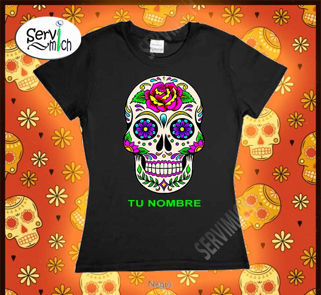 Playera Día de Muertos Dama negro - SERVIMICH MORELIA 3db5980d82ff6