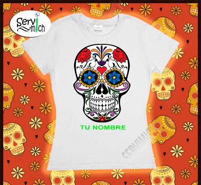 Playera Día de Muertos Dama sublimada - SERVIMICH MORELIA 1054b4126c895