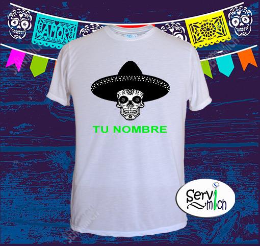 Playera Día de Muertos Caballero sublimada - SERVIMICH MORELIA 75976ed62fb41